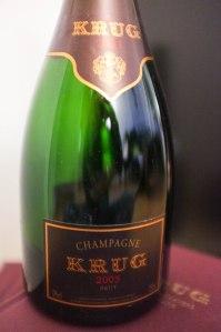Champagne Krug 2003