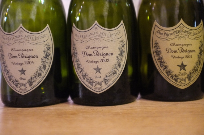 Dom Pérignon 2004, Dom Pérignon 2003, Dom Pérignon 2002