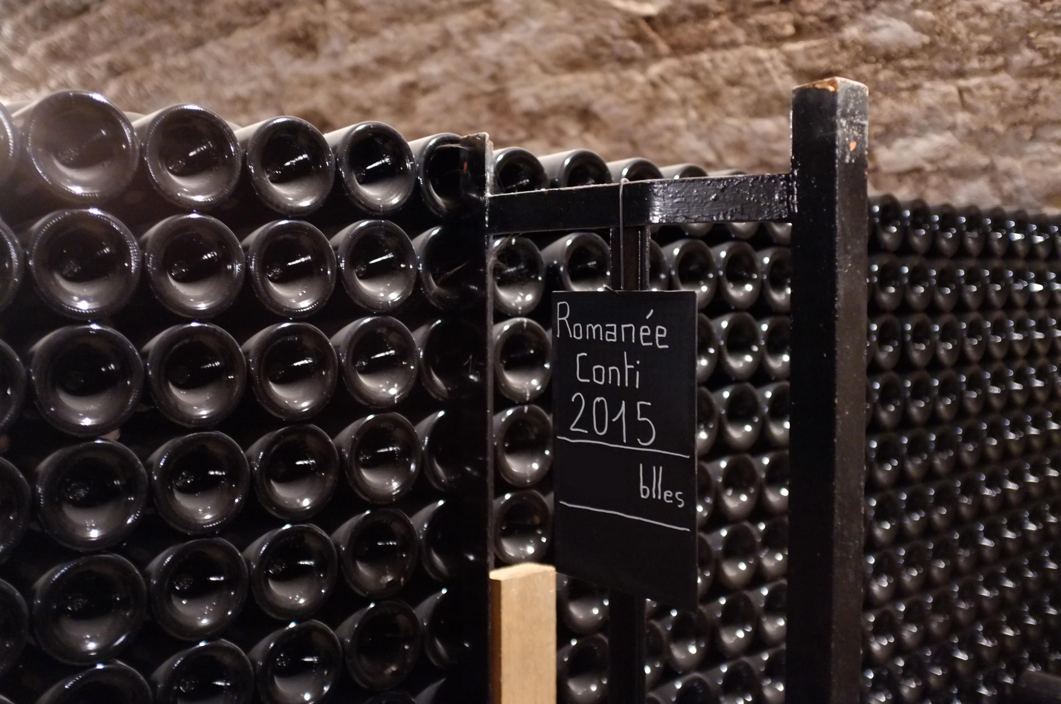 Piles bouteilles Romanée-Conti 2015