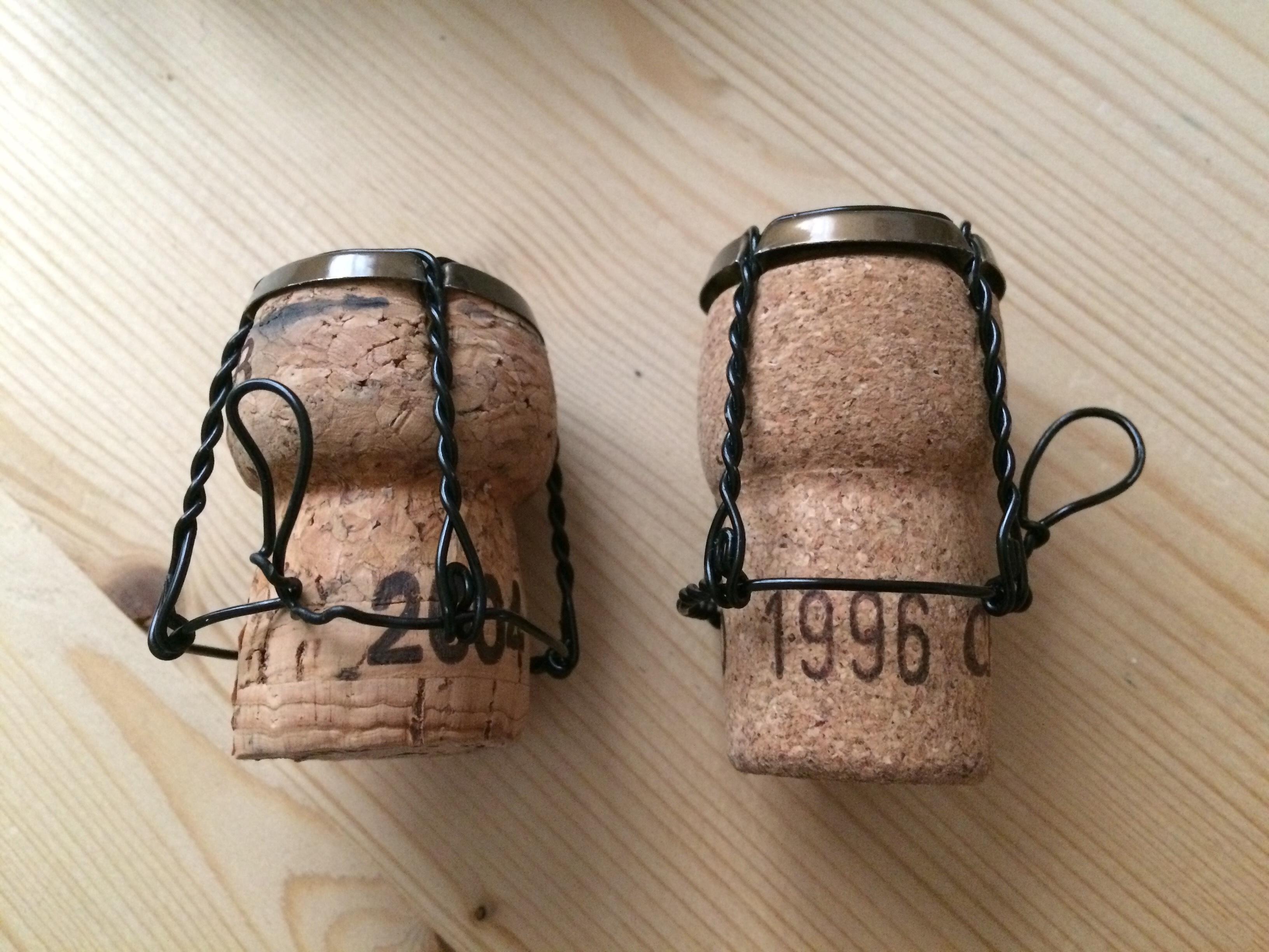 Bouchons Bollinger RD 2004 et Bollinger RD 1996
