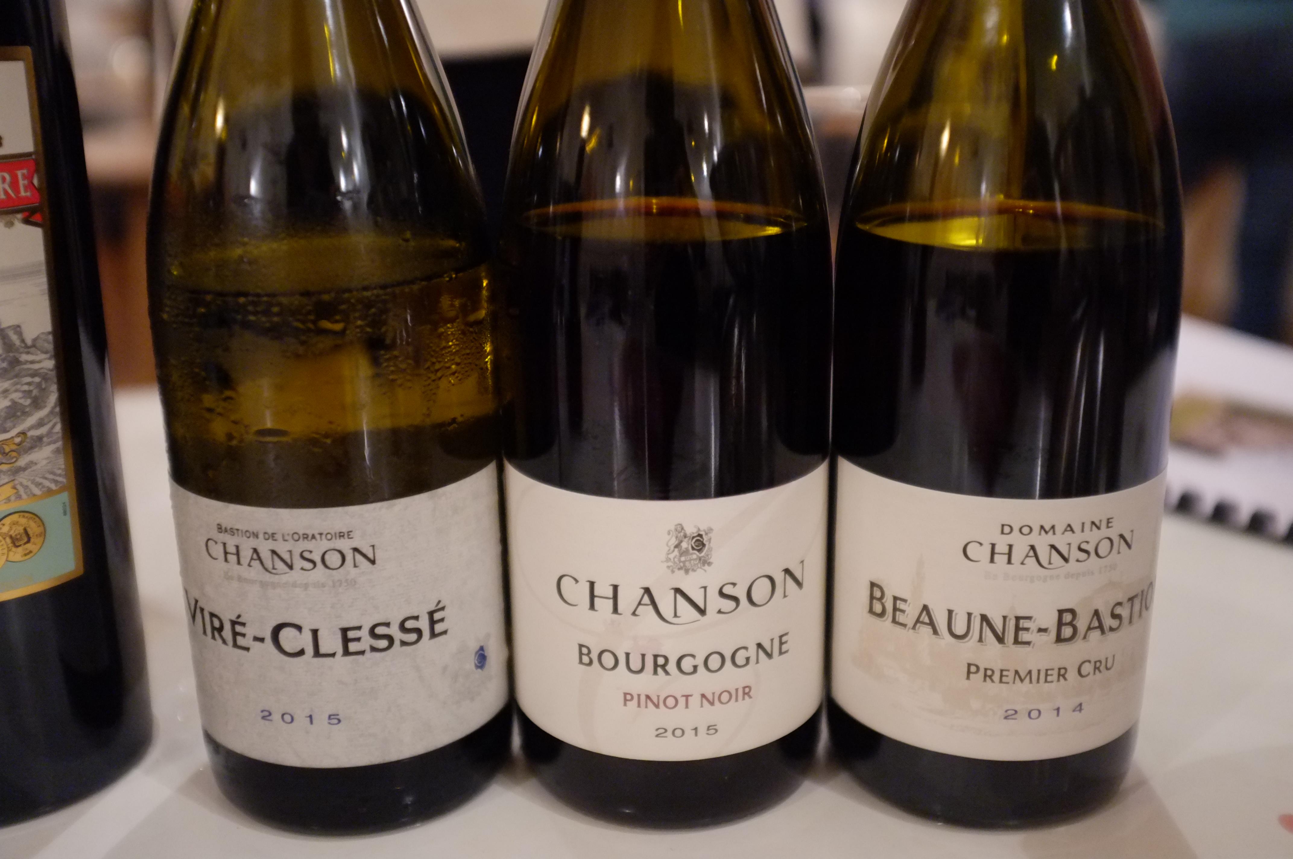 Maison Chanson bourgogne rouge, beaune 1er cru viré clessé foire aux vins 2018 monoprix