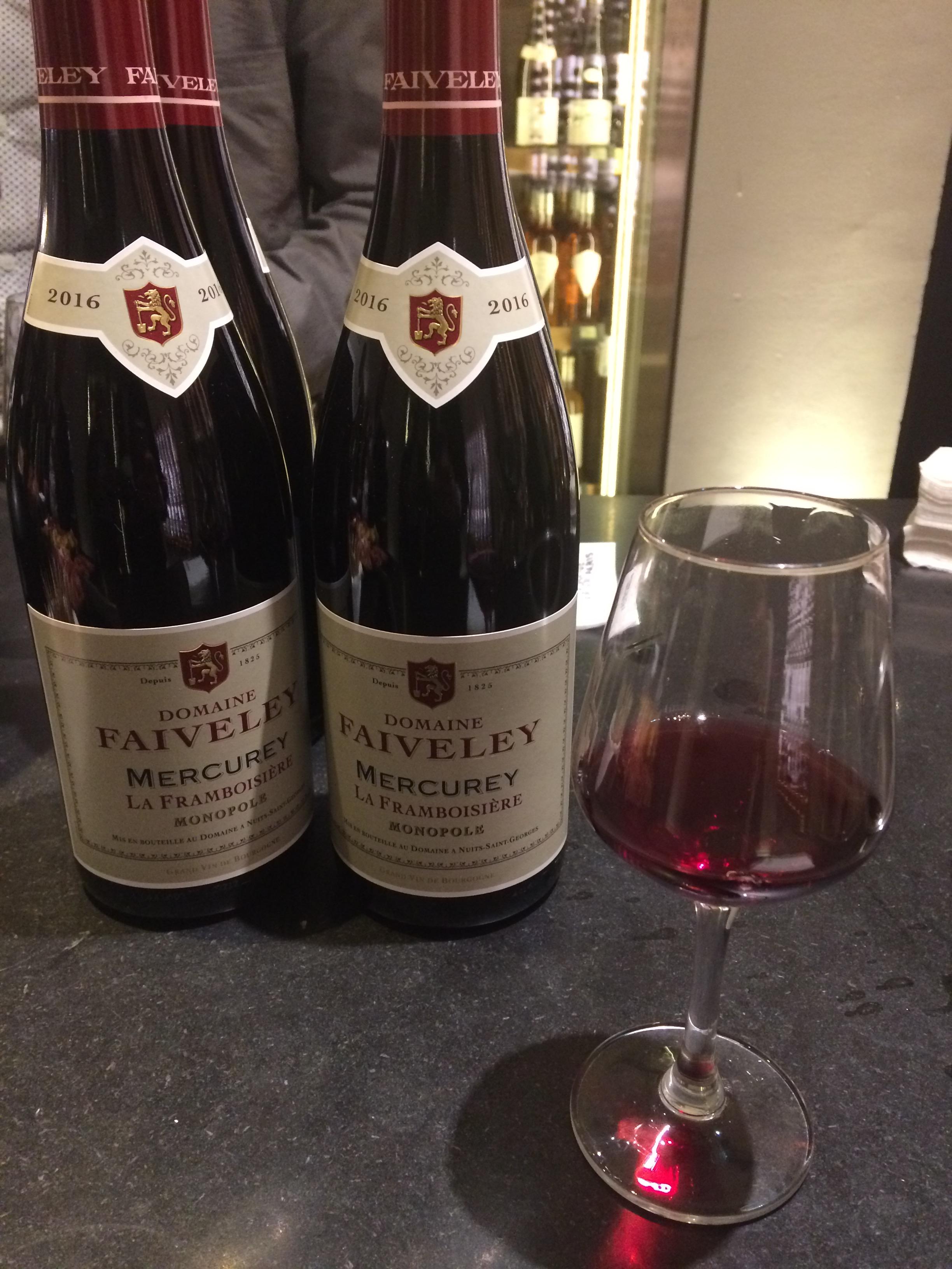 Mercurey la framboisière 2016 domaine faiveley foire aux vins 2018 la grande épicerie