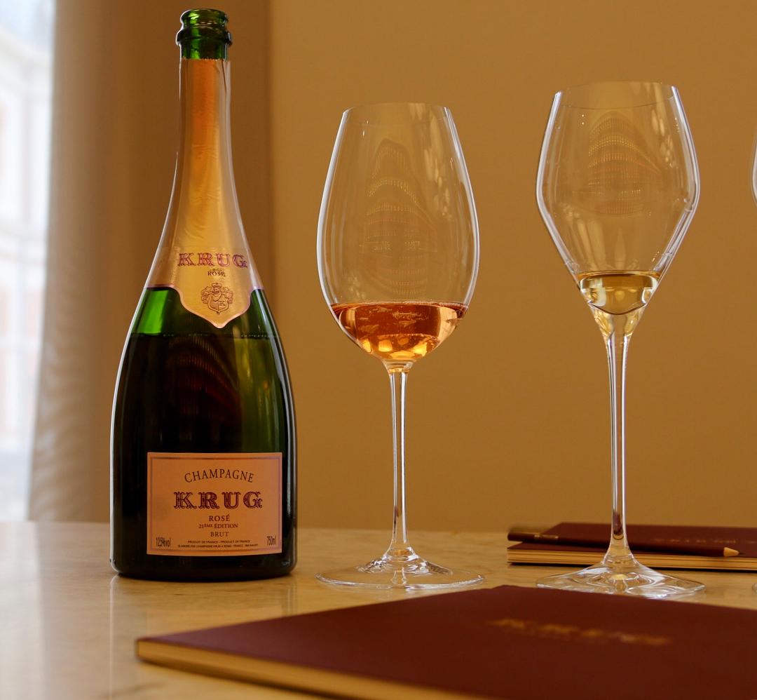 Joseph Glass champagne Krug